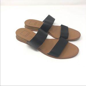 Dolce Vita Size 7.5 Black Tan Double Strap Sandals